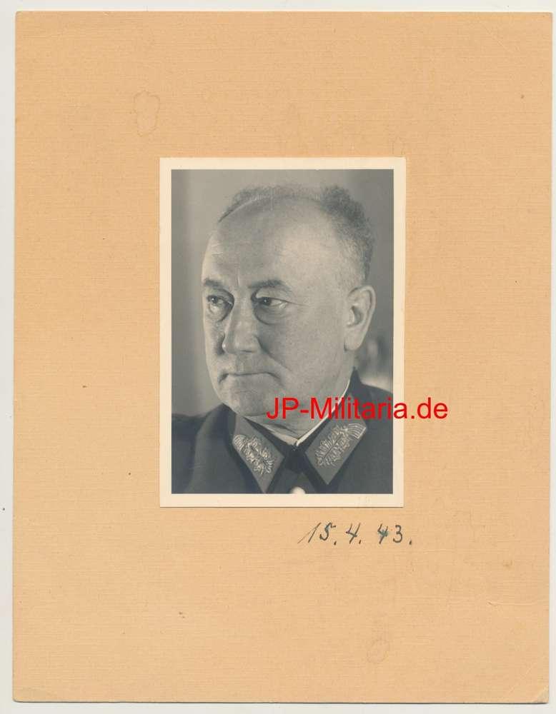 General Oscar Vogl Chef Besatzung Frankreich Original Portrait Foto ...