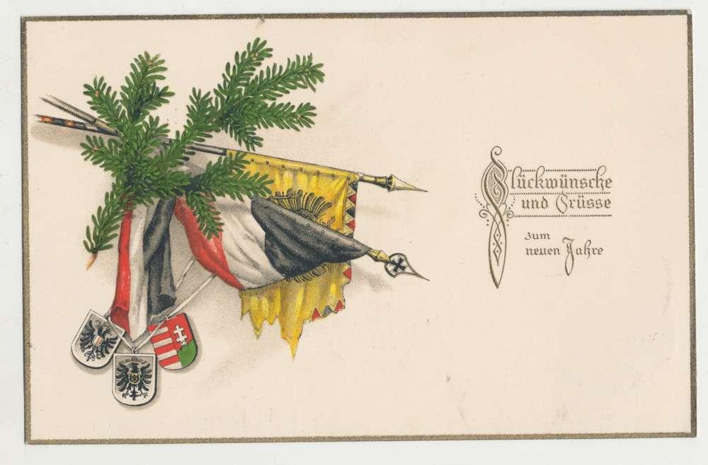 Patriotische Postkarte \