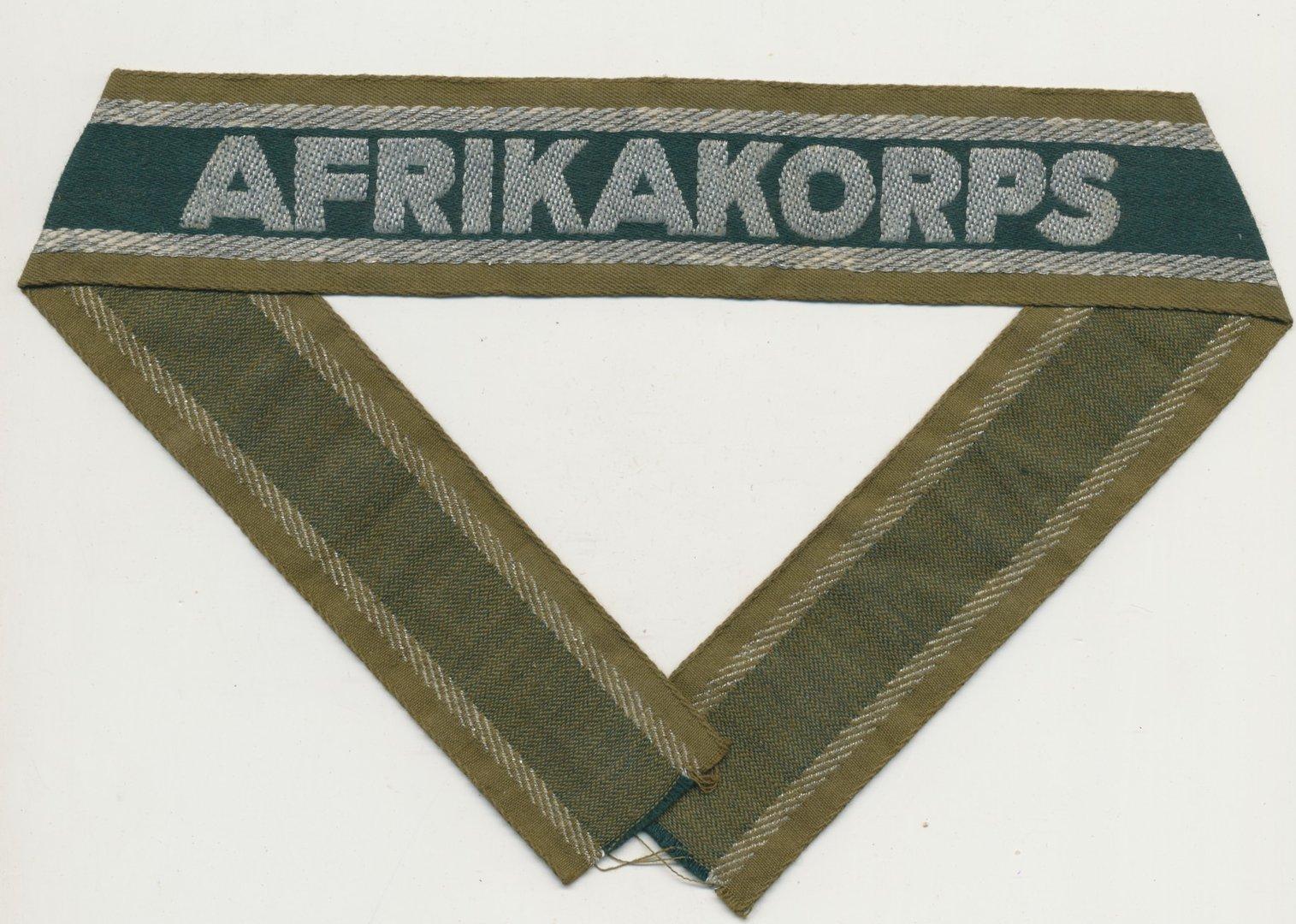 Ärmelband Afrikakorps Wehrmacht Heer WK2 - Josef Pfanzelter Militaria