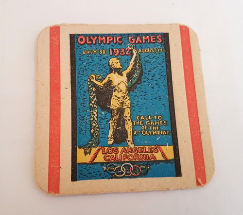 Olympische Spiele 1932 Bierdeckel Los Angeles California Olympic Games